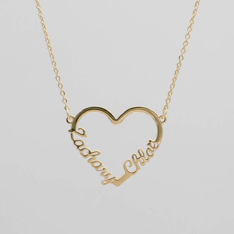 Unusual Valentine's Gifts - Double Heart Necklace