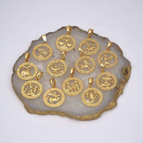 Zodiac Necklaces, Signs & Compatibility - 12 gold zodiac necklace