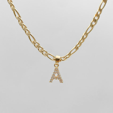Celebrity Initial Necklace - Letter A initial necklace