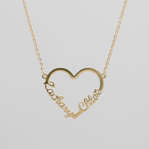 Personalised name necklace gift for friend