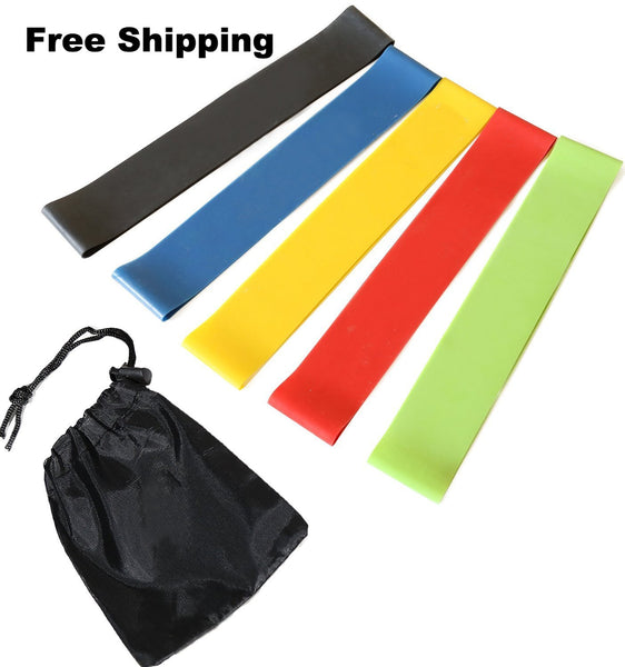Pro Resistance Band Set (5 x bands & 1x carry Net) - kascelmed