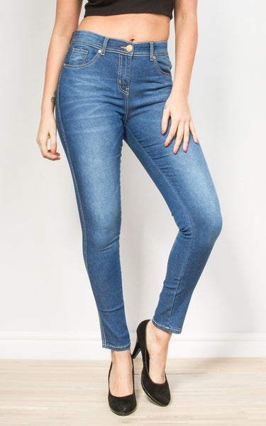 Jeans - Peyton Mid Blue Regular Jeans
