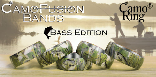 CamoFusion Bass Edition Stainless Steel Ring