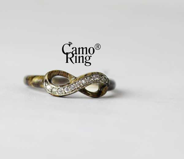Camo Forever Promise Ring - Timbertec Camo - Size 8