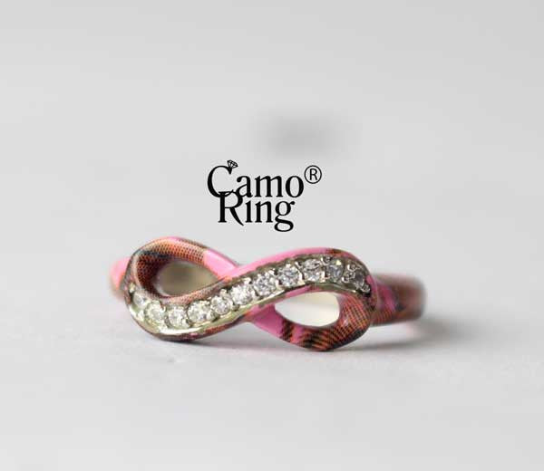 Camo Forever Promise Ring - Pink Camo - Size 5