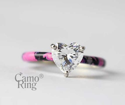 Sweetheart Solitaire Ring - Muddy Girl Camo - Size 7