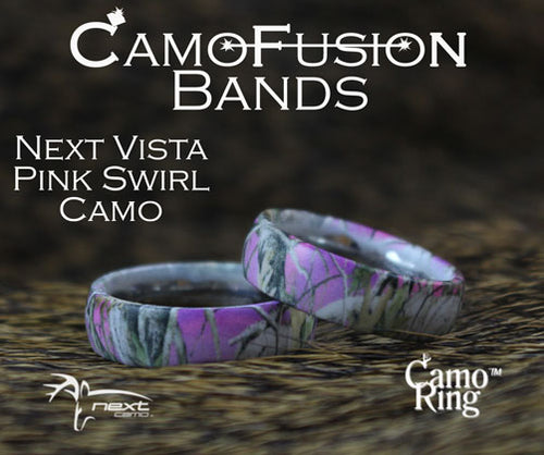 CamoFusion Pink Swirl Camo Vista Stainless Steel Band