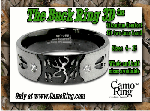 The 3D Buck Ring Titanium Band + FREE DOE RING