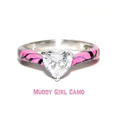 Camo SweetHeart Solitaire Promise Ring