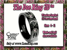 The 3D Doe Ring Titanium Band