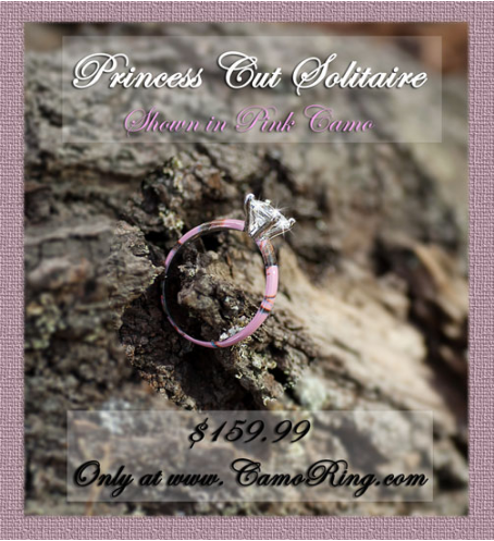 Camo Princess Solitaire Promise Ring