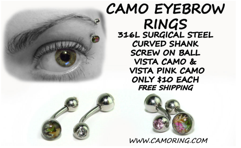 Camo Eyebrow Ring