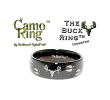 The Buck Ring - Black  Domed