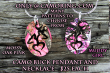 Camo Buck Necklace