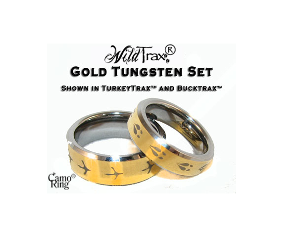 WildTrax Gold IP Tungsten Ring