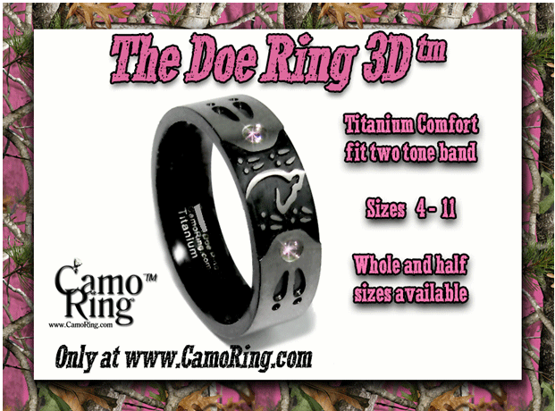 The Doe Ring 3D -Size 11- Slightly imperfect-Ships in 1-2 days
