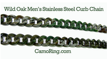 Camo coated 316L Stainless Curb Chain Necklaces