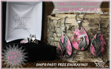 Pink Solitaire with Doe Necklace/Earring Set