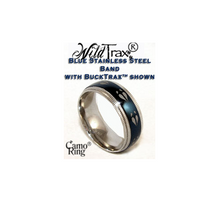 WildTrax Blue Stainless Steel Ring - SALE