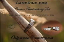 Camo CZ Bar Set Engagement Band