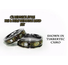 Camo Redneck CZ His & Hers Titanium Wedding band set