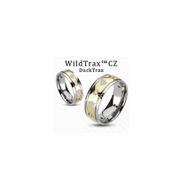 WildTrax CZ Gold & Titanium Ring - SALE