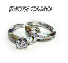 Camo Brilliant Cut (Round stone) Wedding Set