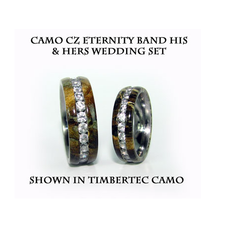 Camo Eternity Stainless Steel Wedding band