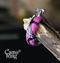 Camo Solitaire with Brilliant Cut Stone- Size 7 ONLY - Muddy Girl Camo - Limited Edition