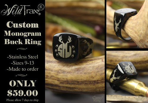 WildTrax® Monogram Buck Ring