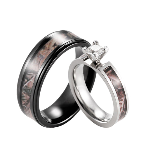 Camo His Hers Wedding Ring Sets Camoring Com