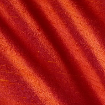 Iridescent Coral Fabric, Silk 54 inches wide Made in India,  0380646