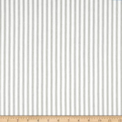 Waverly Classic Ticking Nickel Fabric Ivory/Grey, Fabric 54