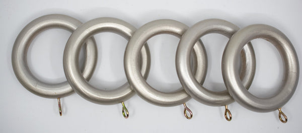 "1 3/4"" Wood Rings (14 rings) Pewter Color"