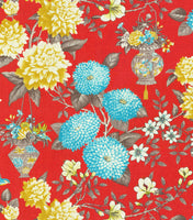 "P/K Lifestyles Lightweight Decor Fabric 54"" Lightfoot Garden & Persimmon"