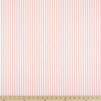 "Magnolia Home Fashions Berlin Ticking Stripe Pink / White Fabric 54"" wide,"
