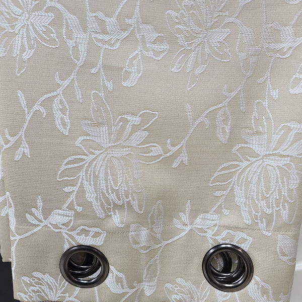 Branch color Gray, Grommet Drapery Panels 54 x 96