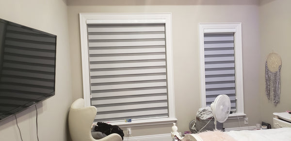 Privacy Stripe Blinds By Drapery King Toronto