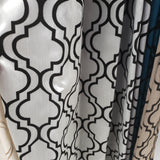 Design Lined Drapery Panel Black / Silver 54X95 In