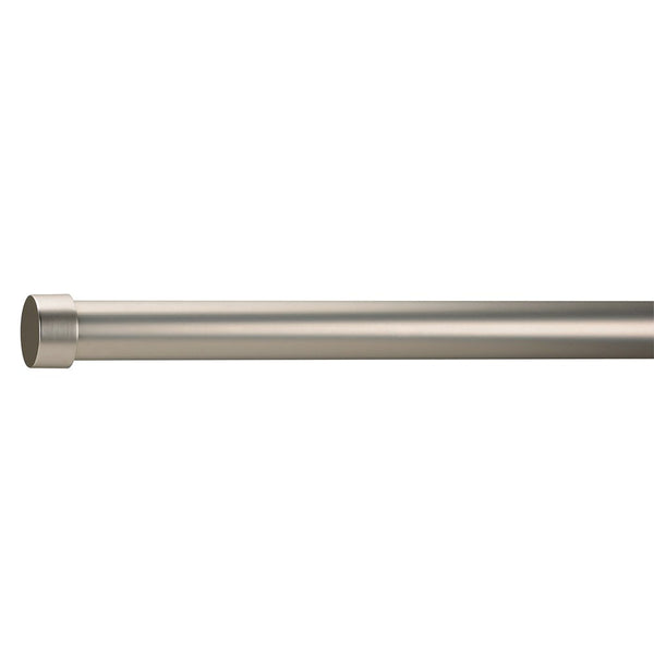 "Umbra Cappa 1-1/4"" Adjustable Curtain Rod for Windows in Single or Double, 36 to 72-Inches, Nickel Drapery King Toronto"