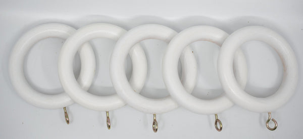 "1 3/4"" Wood Rings (14 rings) White Color"
