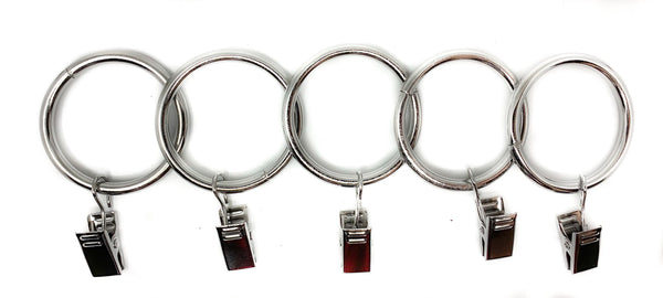 "1 1/2"" Steel Rings With Clip"