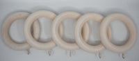 "1 3/4"" Wood Rings (14 rings) White Wash Color"
