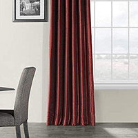 "50 X 96 Drapery Panel Lined Room Darkening  Dupioni Silk 54"" Burned Red color"