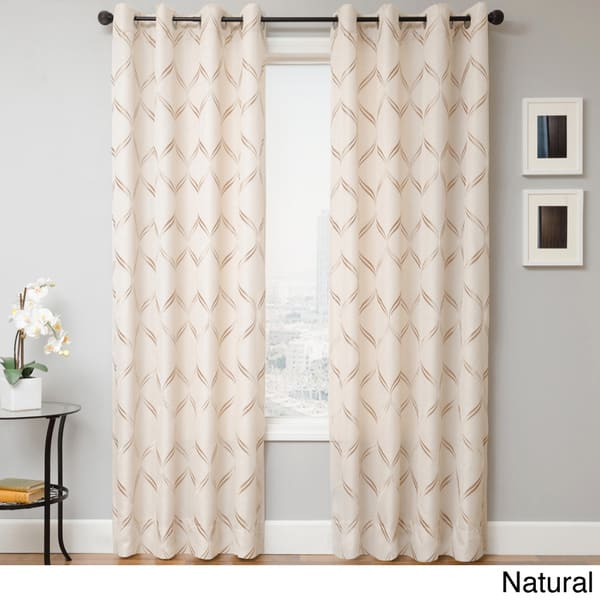 Softline Roxy Grommet Top Curtain Panel by Softline Natural at drapery King Toronto