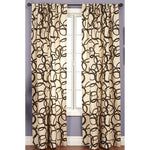 Softline Nirvano 84-inch Rod Pocket Curtain Panel - 55 x 108 - Blue/Chocolate