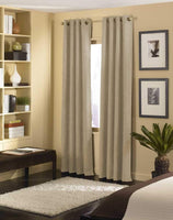 "Curtainworks Cameron Grommet Curtain Panel, 50 by 84"", Grayge"