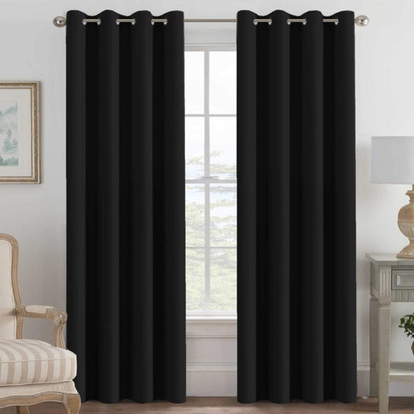 H.VERSAILTEX Blackout Curtain for Bedroom Light Blocking Curtain Drapes for Living Room, Thermal Insulated Grommet Curtains Feature Thick Soft Textured, 52 by 96 inch 2 panels $49.99