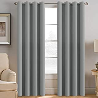 Curtains 96 Inches Long Blackout Room Darkening Thermal Insulated Grommet Window Curtains Drapes Draperies for Living Room / Bedroom, Energy Saving Curtains for Patio Door, Dove Gray, 2 Panels $49.99