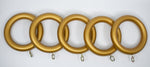 "1 3/4"" Wood Rings (14 rings) Gold Color / 35mm  / 1 3/8 rod"